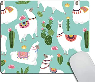 Smooffly Llama Mouse Pad Custom Personalized Llama Gift Perfect Custom Desk Accessory 9.5 X 7.9 Inch (240mmX200mmX3mm)