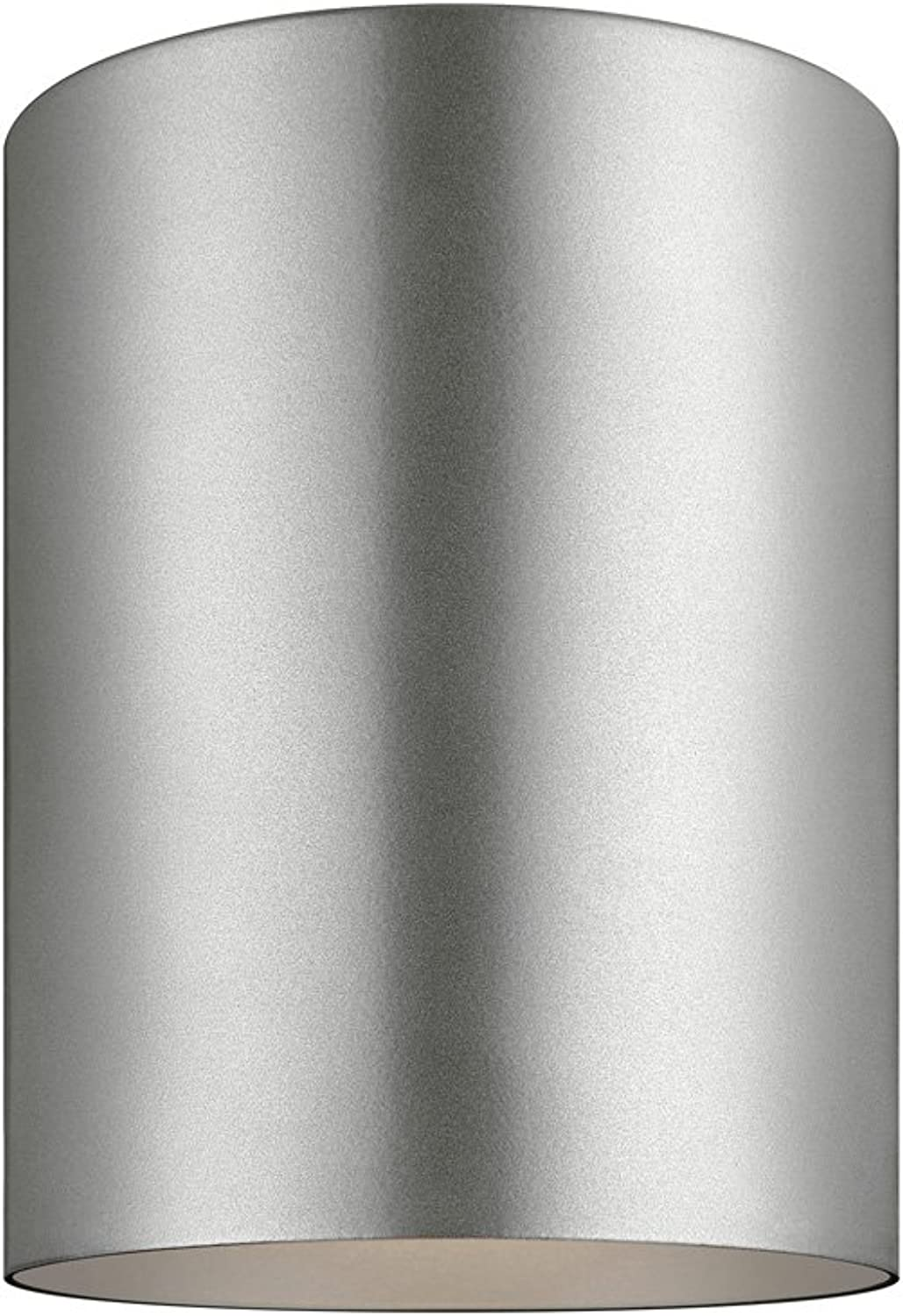 Sea Gull Lighting 7813891S-753 Outdoor Cylinders LED Flush Mount Ceiling Light, Painted Brushed Nickel Finish