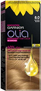 Garnier Olia, No Ammonia Permanent Hair Color With 60% Oils, 8.0 Blonde