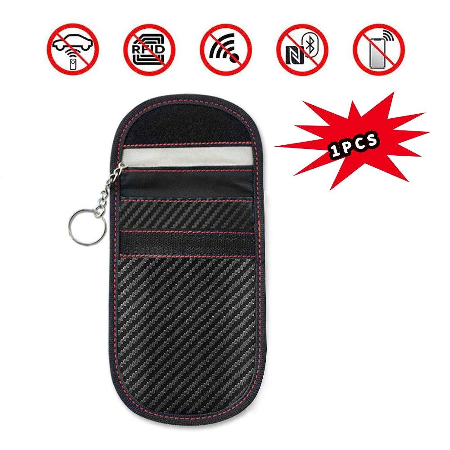 カヌー持つ滑り台最新版スマートキーケース 100%電波遮断ポーチ 盗難防止 お手入れ簡単なキーケース 高級皮革 サイズ選び可能 17インチ リレーアタック対策 カーセキュリティ キーケース スキミング防止