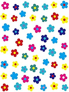6 Sheets Different Styles Pattern DIY Nail Art Stickers - Self-adhesive Tip Nail Art Stickers Decals - Korean Nail Sticker Applique Small Fresh Color Stickers for Women Girls Nail Salon (E)