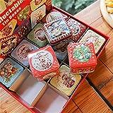 Rubyu 12PCS Platz Keksdosen Weihnachtsdosen Weihnachten kleine Box Eisen...