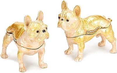 PAIQ Decorative Bulldog Handmade Unique Gift Trinket Box Collectible Figurine Home Decor