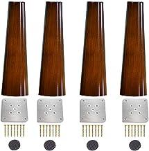DX sofapointafel, poten en meubelpoten, massief hout, voor gebruik met salontafel, nachtkastje, commode kast