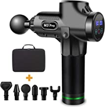 Massage Gun Deep Tissue Percussion Muscle Massager for Pain Relief, Handheld Electric Body Massager Sports Drill Portable ...