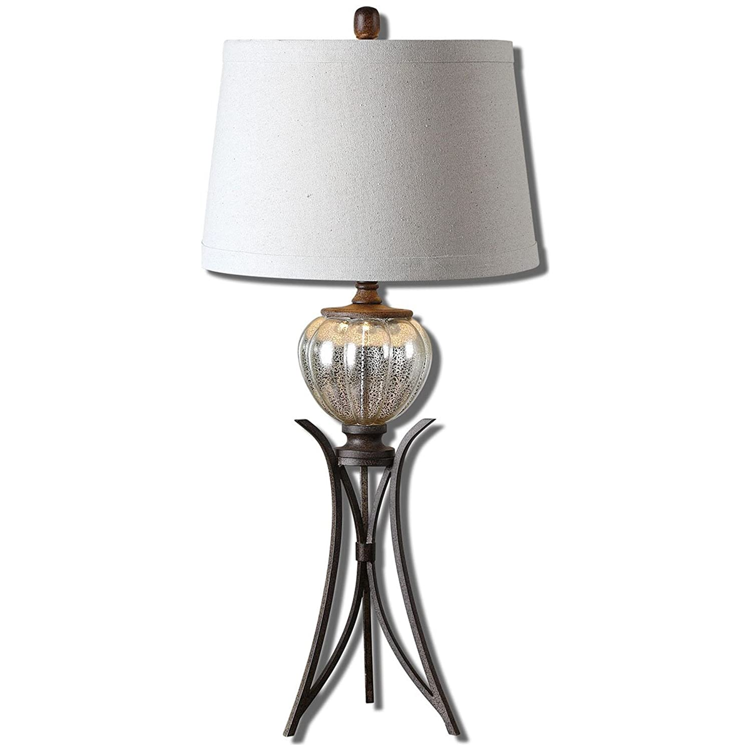 Uttermost 26598 Cebrario Mercury Glass Table Lamp by Uttermost