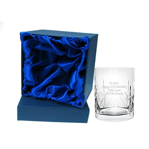 Engraved Personalised 10oz Crystal Whisky Glass In Silk Gift Box From CR8 A GIFT For