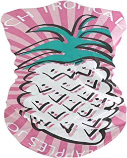 Pineapple Pink Stripes Headband Womens Bandana Mens Balaclava,Neck Warmer,Face Mask,Neckerchief Wristband