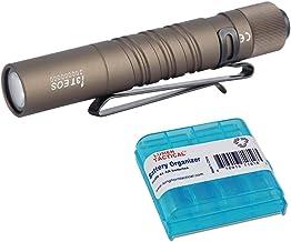 Olight I3T EOS Desert Tan 180 Lumen AA Battery Powered Everyday Carry LED Flashlight Penlight with LumenTac AAA Battery Organizer