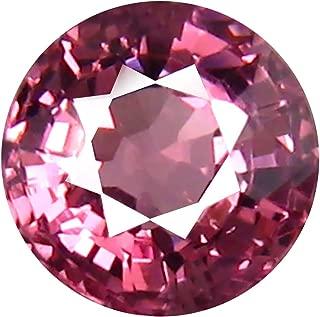 0.78 ct AAA+ Grade Round Shape (5 x 5 mm) Unheated Pink Malaya Garnet Natural Loose Gemstone