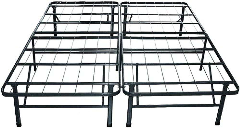 ViscoLogic Brands Platform Heavy Duty Metal Bed Frame Mattress Foundation (Quen)