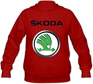 Women's Skoda Auto Logo Lightweight Hoodie Ash