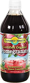 Dynamic Health Pomegranate Juice Concentrate   No Additives or Preservatives   Antioxidant   16oz