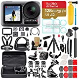 DJI OSMO Action Camera Bundle with Micro SD Card, Tempered Glass Screen Protectors, Carrying Case, and Must Have Accessories (55 Items)