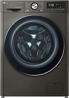 غسالة ملابس معدن بشاشة عرض ال اي دي فيفاتشي من ال جي F4R5VYG2E، 9 كجم - اسود
