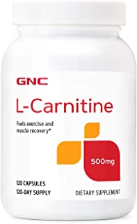GNC L-Carnitine 500mg, 120 Capsules, Helps Metabolize Long-Chain Fatty Acids