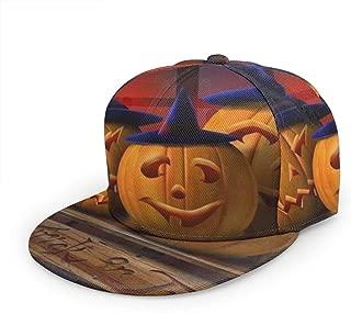 AMZOA Mr Pumpkin Unisex Hip-Hop Korea Fashion,Snapback Adjustable Printed Hip Hop Baseball Cap
