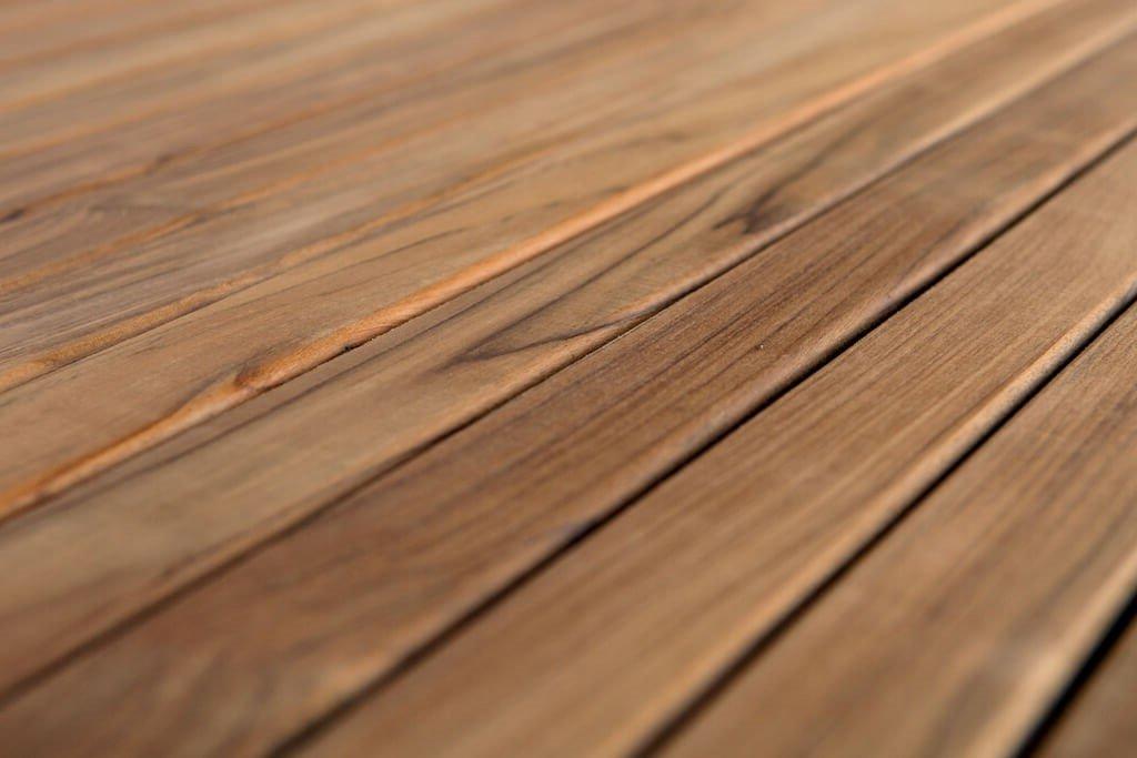 Tablones de terraza de madera de teca de BioMaderas; anchura 50 mm ...