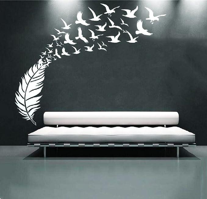 Q614 Peacock Feathers Bedroom Bird Window Wall Decal 3D Art Stickers Vinyl Room