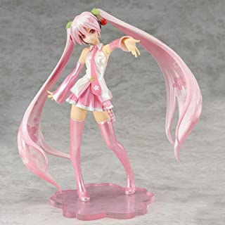 Bowinr Sakura Miku PVC Figure, Premium Collectible Kawaii Vocaloid Hatsune Miku Action Figure for Home Decor