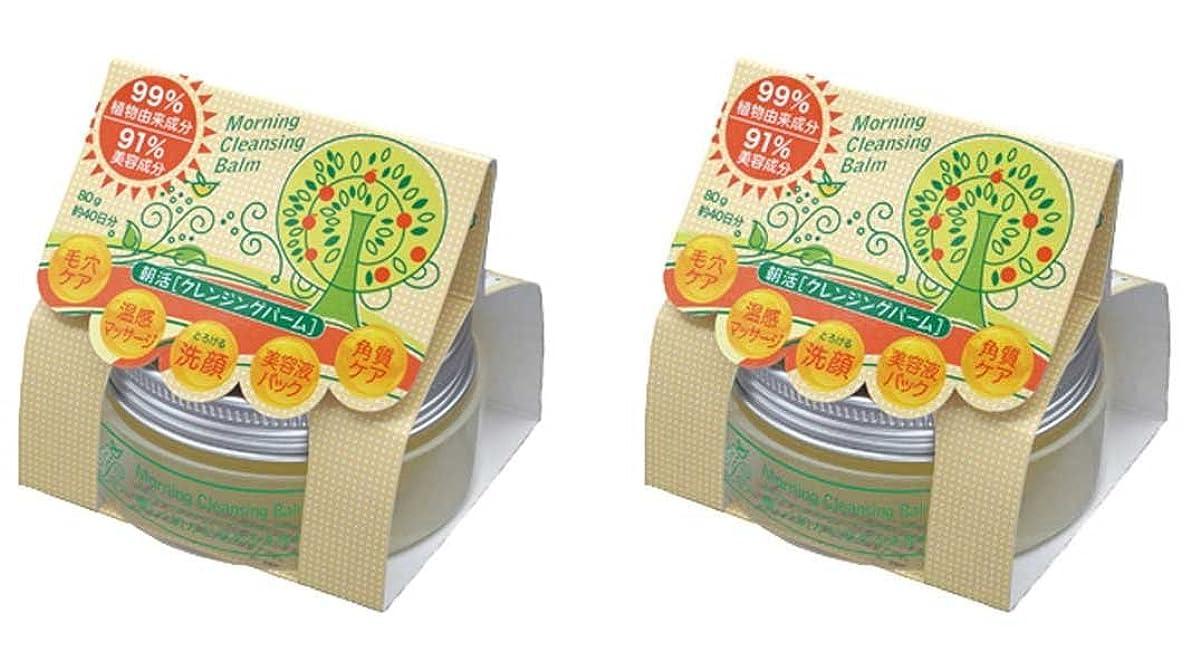 プレゼン何インストラクター朝活クレンジングバーム 2個セット(99%植物由来成分+91%美容成分配合クレンジングバーム)