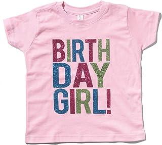 SoRock Birthday Girl Toddler Kids Glitter T-Shirt
