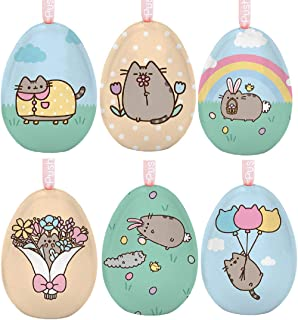 Pusheen Tin Easter Egg Assortment - 6 Different Eggs - Opens to hold items/candy and can hang as an ornament