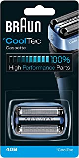 Braun CoolTec Replacement Foil & Cutter Cartridge for all Braun CoolTec Mens Shavers, Compatible with CT2CC, CT2S, CT4CC, CT5CC, Features Active Cooling Technology with Advanced 3-Stage Cutting System, and Senso-Blade Technology, Replace Every 18 Months for Best Results