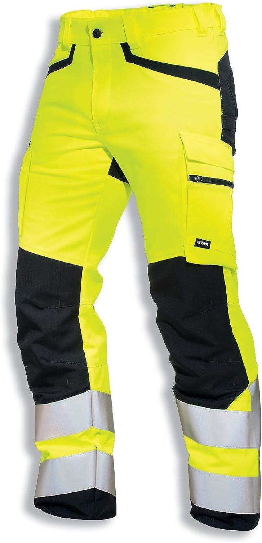 Uvex Protection Flash Pantalones de Seguridad - Pantalón de Trabajo - Alta Visibilidad con Cintas Reflectantes y Multibolsillos - Amarillo