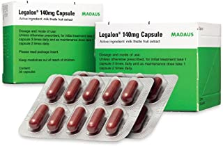 Legalon 140mg Liver Support, Cleanse & Detox Supplement 30s X 2 Box,