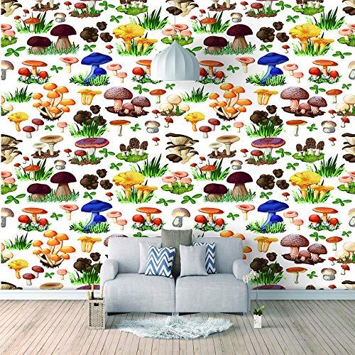 Wandbild tapete Moderne Kunst & PilzDeko familie wohnzimmer jugendzimmer babyzimmer küche schwarz weiß400x280cm