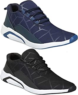 Shoefly Men Multicolour Latest Collection Sports Running Shoes - Pack of 2 (Combo-(2)-1244-1242)