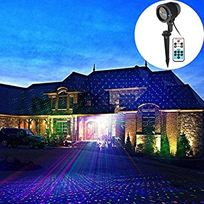 LEEPO Waterproof Starry Light for Homes, Christmas, Gardens Party Decoration Stage Wedding Inserted Patio Lighting Plug In Outdoor/Indoor(100RGB)