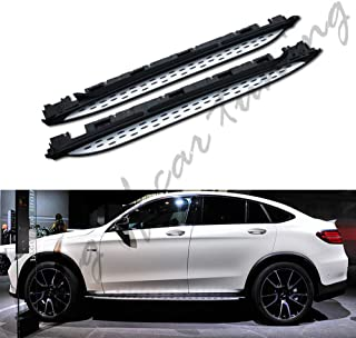 king of car tuning Aluminium Running Boards Side Steps Nerf Bars Fit for Mercedes Benz GLC Coupe C253 2016 2017 2018 2019 2020