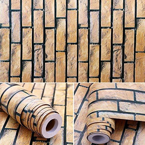 LZYMLG 3D Brick Wall Effect Wallpaper Dekorativer Selbstklebender Aufkleber PVC-Marmor-Wandaufkleber wasserdichtI