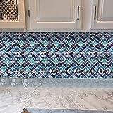 Exnemel Adhesivo para Azulejos, Azulejos De Mosaico Papel Pintado para Baño Y Cocina PVC...