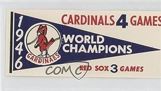 1946 St. Louis Cardinals (Baseball Card) 1961 Fleer Baseball Greats - World Series Pennant Decals #1946