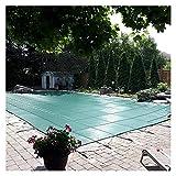 Cobertor Solar Piscinas Cubiertas de seguridad para piscinas para piscinas enterradas, Cubierta de piscina de invierno rectangular, Malla verde sólida, 1m / 2m / 3m / 4m / 5m de ancho, Incluye todo el