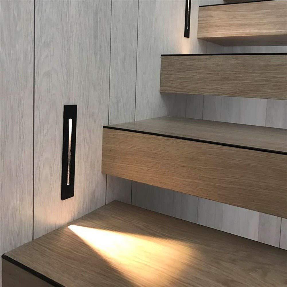NO BRAND Lámparas de Pared 3W empotrada llevó luz de Escalera Interior AC85-265V IP20 al Aire Libre IP65 Esquina de la Pared Luces Escaleras Paso Escalera Escalera Pasillo de la lámpara: Amazon.es: