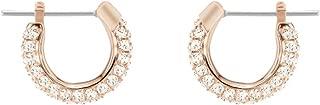 Swarovski Stone Ohrringe für Frauen, pinkfarbenes Kristall, rotgold glänzendes Finish