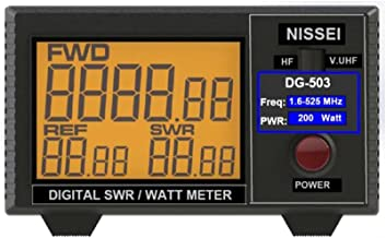 "Fumei DG-503 Digital LCD 3.5"" SWR/Watt Meter HF 1.6-60MHz & VHF/UHF 125-525MHz 1-200W for Two-Way Radio"