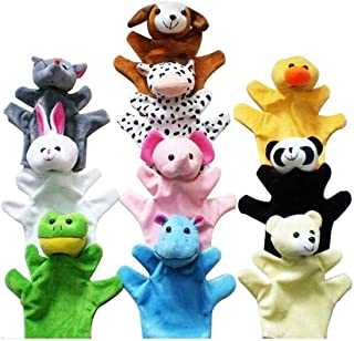 Diagtree Animal Hand Puppets Farm Toys Set with Movable Open Mouth Plush Pretend Toys for Kids Children Role-Play, Prescho...
