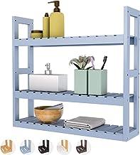 Bathroom Shelf 3-Tier Wall Mount Shelf Over Toilet Storage Rack Adjustable Layer Free Standing Plant Stand Towel Holder Li...
