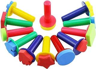 Kuqqi 12pcs Assorted EVA Sponge Painting Stamper Foam Sponge Brush Painting Tools for Painting Drawing Crafts and DIY