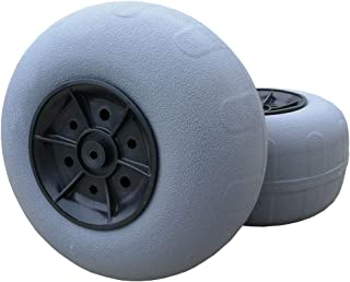CRESTWALKER 2 Large 12 Inches Balloon Wheels, 7/8 Inch Hub, Replacement Polyurethane Beach Cart Wheels for Sand