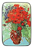 Fig Design Group Van Gogh Poppy Vase RFID Secure Data Theft Protection Credit Card Armored Wallet