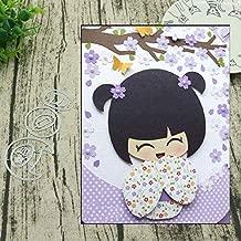 1 Set Kimono Girl Metal Cutting Dies Stencil for DIY Scrapbooking Album Embossing Paper Cards Decorative Crafts