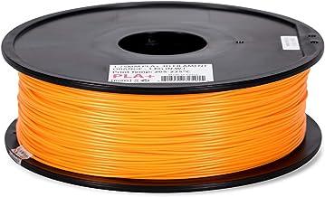 Inland 1.75mm Orange PLA PRO (PLA+) 3D Printer Filament 1KG Spool (2.2lbs), Orange