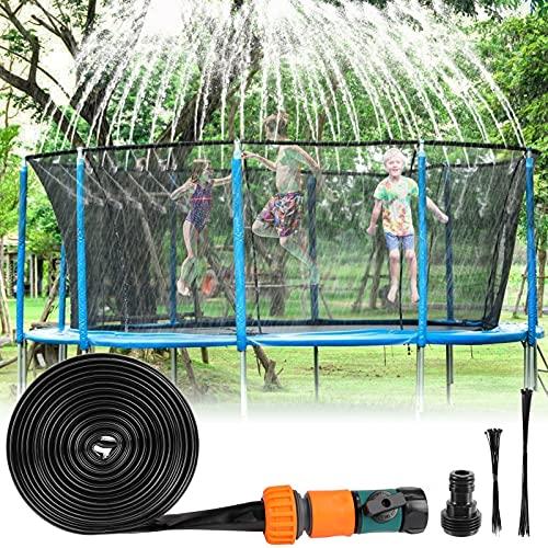 Fostoy Trampolino di Irrigazione, 12m/39ft Spruzzatore per Acqua da Giardino Esterno, Trampolino Spruzzatore per Bamnini, Nebulizzatore Giardino
