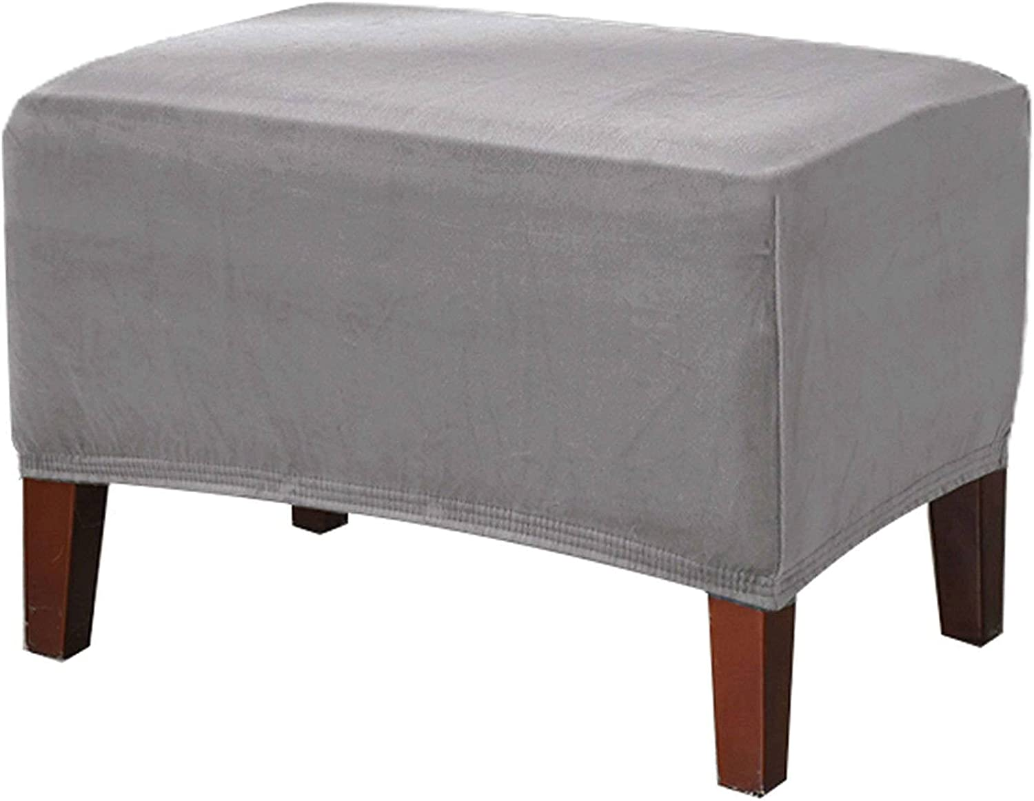 Selling Velvet Free shipping on posting reviews Ottoman Cover Rectangle Stretch Footst Slipcover